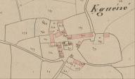 Plan cadastral 1837, section D1 (AD Morbihan 3P121)