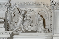 Ensemble de 2 bas-reliefs : Annonciation, Visitation