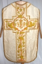 Ornement blanc 2 : chasuble, voile de calice