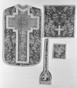 Ensemble : chasuble, étole, bourse de corporal, voile de calice et ornement