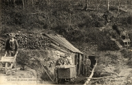 La mine, carte postale ancienne vers 1900 (Fonds Villard, SDAP Quimper)