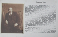 Portrait légendé de Gustave Téry (collection Grimaud)