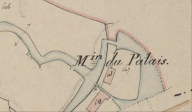 Moulin du Palais, plan cadastral de 1837, section C (AD Morbihan 3P)
