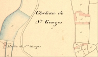 Moulin à eau de Saint-Georges, plan cadastrale de 1837, section A (AD Morbihan 3P)