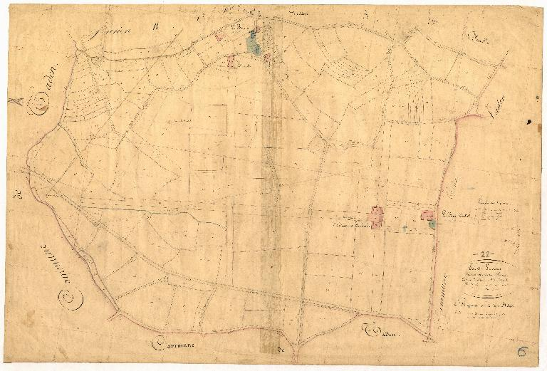 Cadastre de Saint-Samson, Section B, 2e feuille, 1843